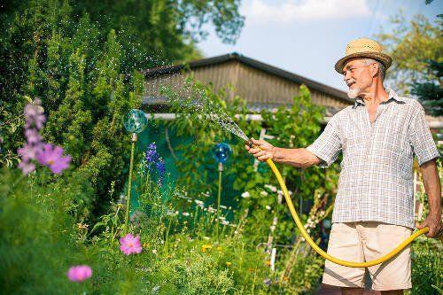Najpopularniejsza rozrywka seniora - gdy zaświeci słońce - prace na działce