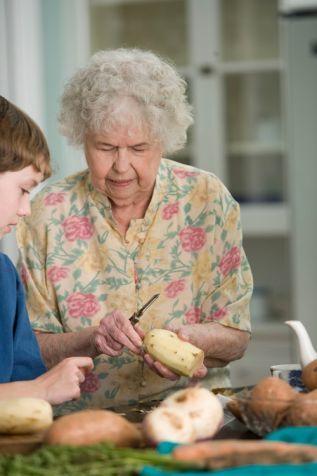 Pensionariusze domu opieki